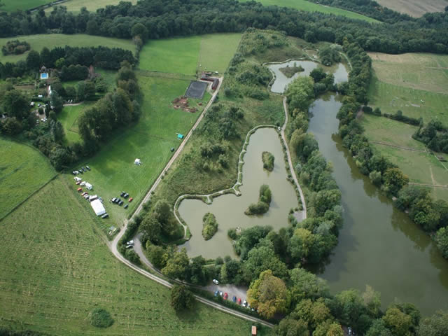 Dave Crooks Fishery at Hunstrete Arial Shot