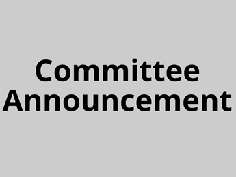 Committee Announcements